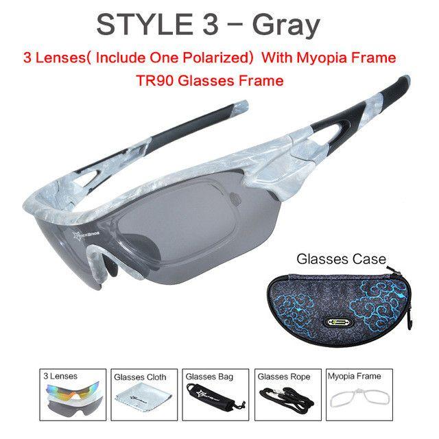 Polarized Cycling Eyewear Sports SunGlasses UV 400 Bicycle Bike Myopia Frame