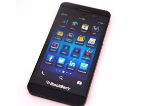 Then new BlackBerry Z10 sporting the latest BlackBerry 10 platform.