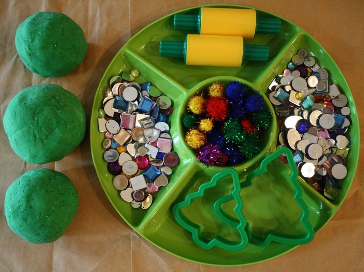 Mint Scented Christmas Playdough