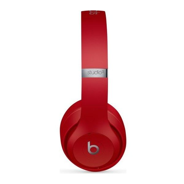 BEATS Studio 3 Wireless Bluetooth Noise-Cancelling Headphones Red (23.630 RUB) ❤ liked on Polyvore featuring accessories, tech accessories and red headphones