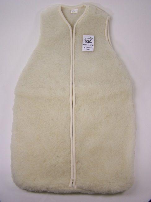 Turbulette en laine naturelle agneau mérinos naturel mouton fourrure pour enfant avec zip fermeture éclair bébé naissance idée cadeau entièrement tout vrai laine acheter blanc