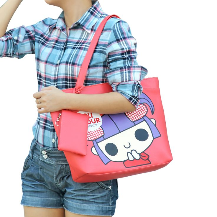 2013 cute bags PU women's cartoon handbag student bag big bag shoulder bag Check more at http://clothing.ecommerceoutlet.com/shop/luggage-bags/womens-bags/2013-cute-bags-pu-womens-cartoon-handbag-student-bag-big-bag-shoulder-bag/