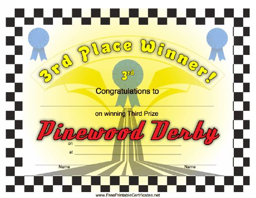 55 best Cub Scout Pinewood Derby images on Pinterest Cub scouts - first place award template