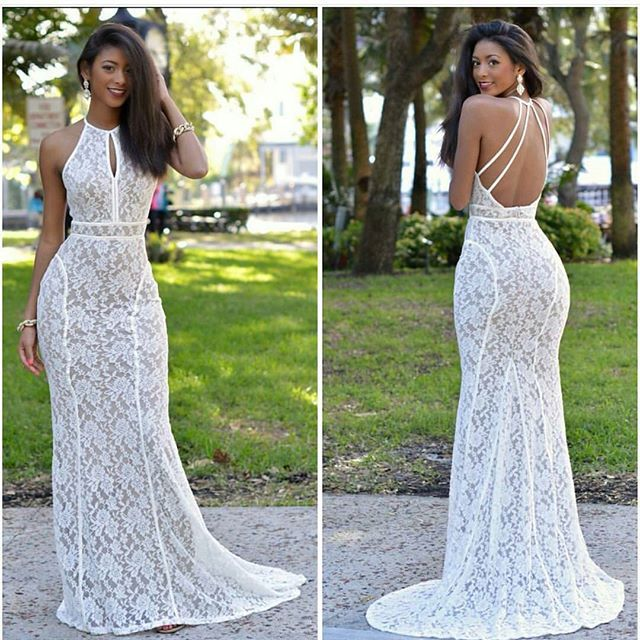 Gorgeous white dress,very chic. Long straightened natural hair on stylish black woman. http://www.shorthaircutsforblackwomen.com/african-dresses/