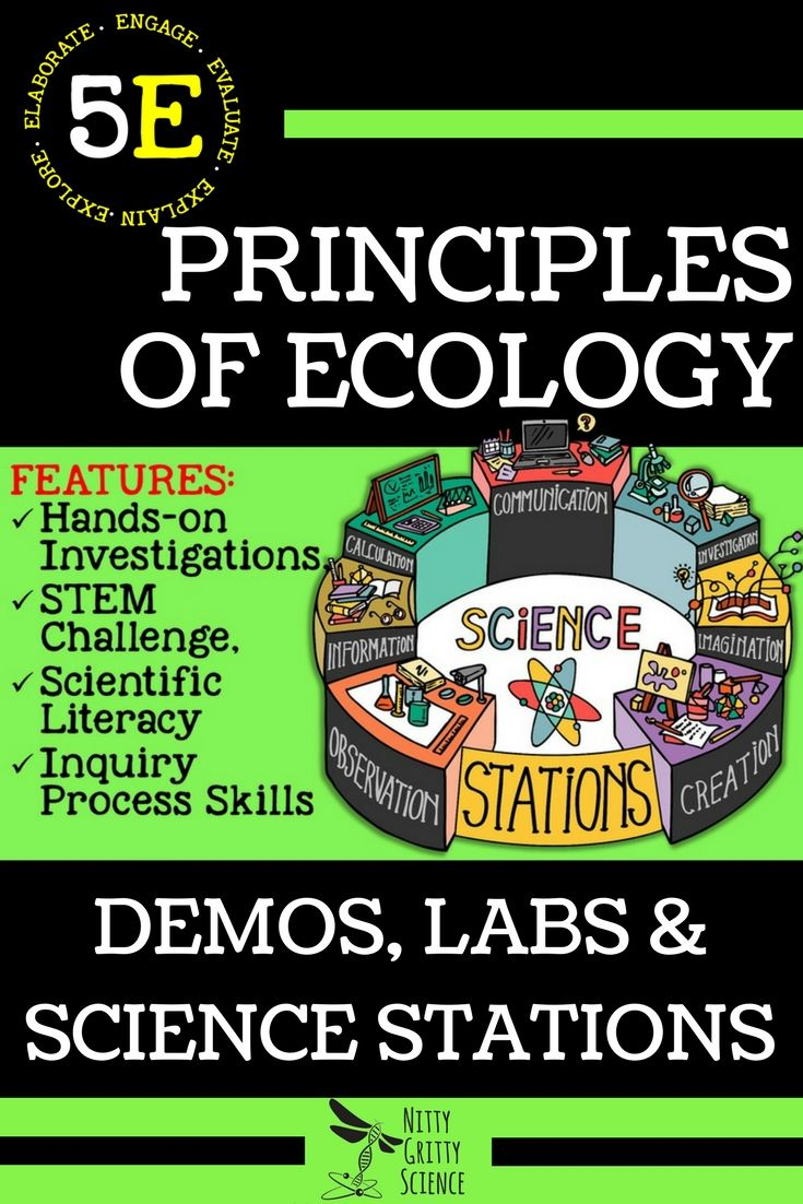 Topics Included for Principles of Ecology: • Nutrition and Energy• Energy Flow in Ecosystems• Cycles in Nature• Organisms and Their Environment• Ecological Succession• Biomes