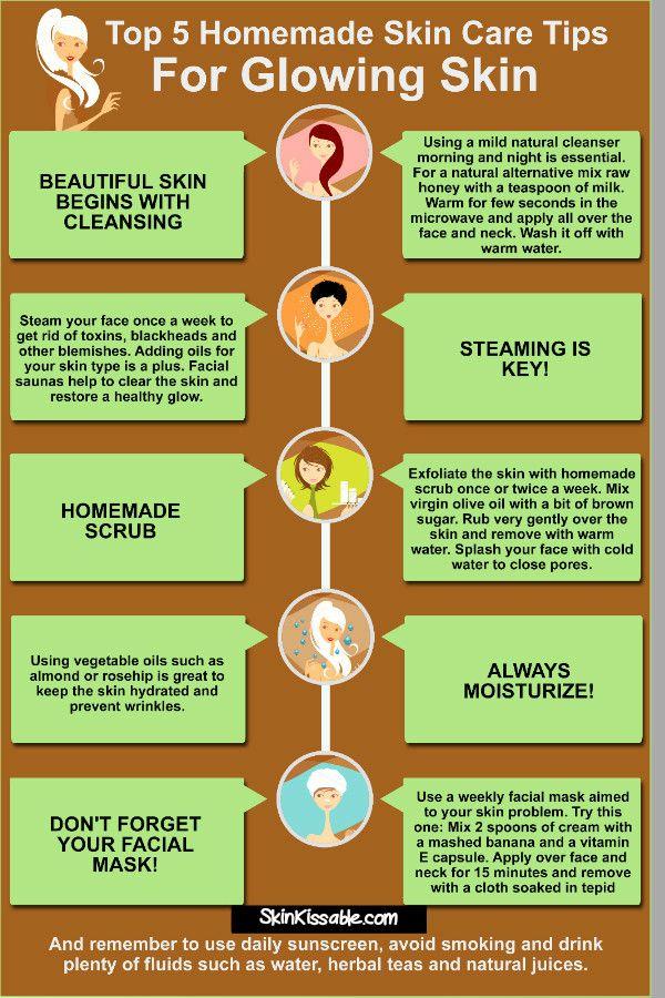 Homemade beauty tips and face mask for better skin. #tips #homemade #natural