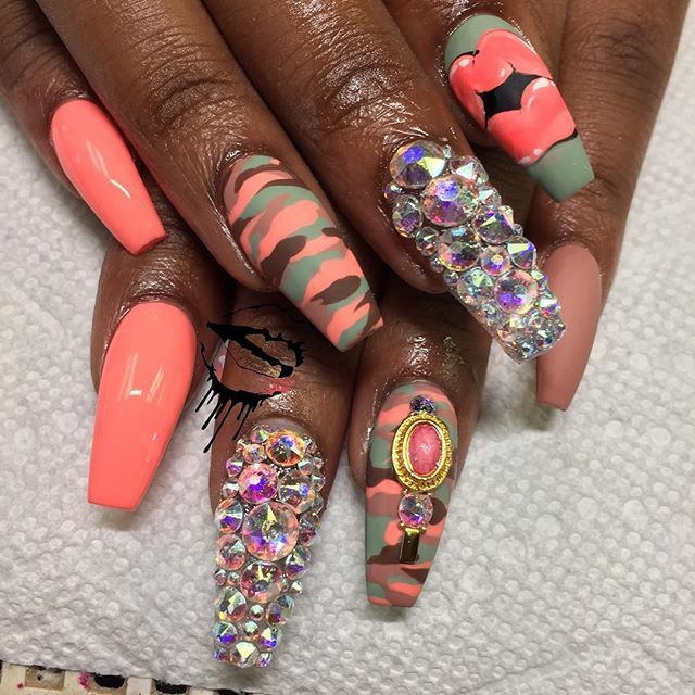 Best 25 army nail art ideas on pinterest army nails uk army i found out i like doing army fatigue maddcanvas nailsbypeachy blackgirlnails army nailsnails shapegirls prinsesfo Images