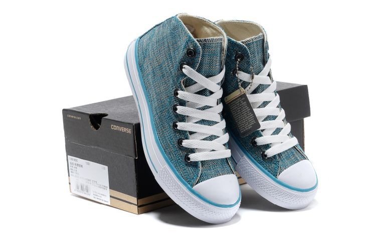2013 converse new chuck taylor all star korean (x) blue hig top shoes