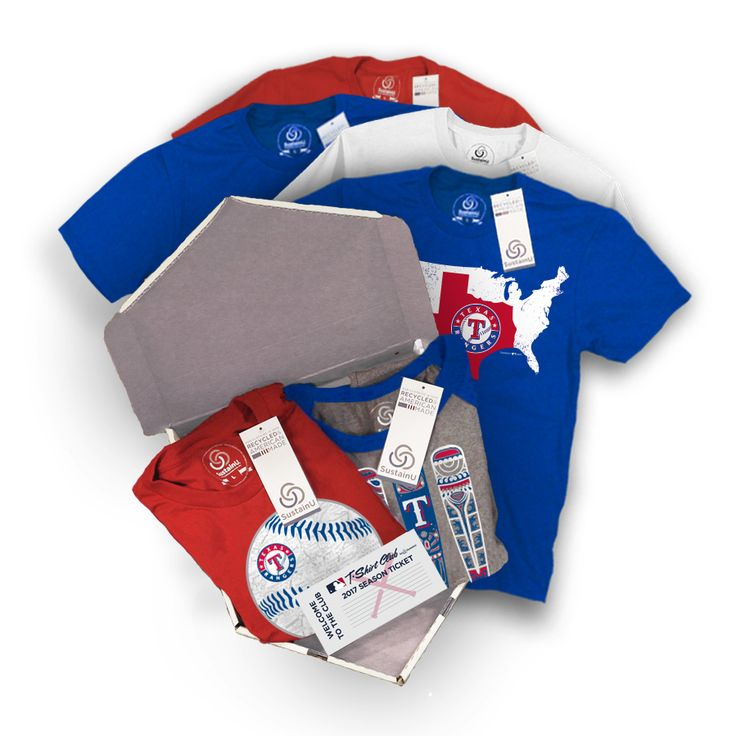 """@rangersbaseball - """"The Triple"""" Package #Rangers #TexasRangers #Rangersbaseball #TXRangers #Texas #Dallas #Arlington. Visit our website to learn more about MLB T-Shirt Club! (https://mlbtshirtclub.com/)"""