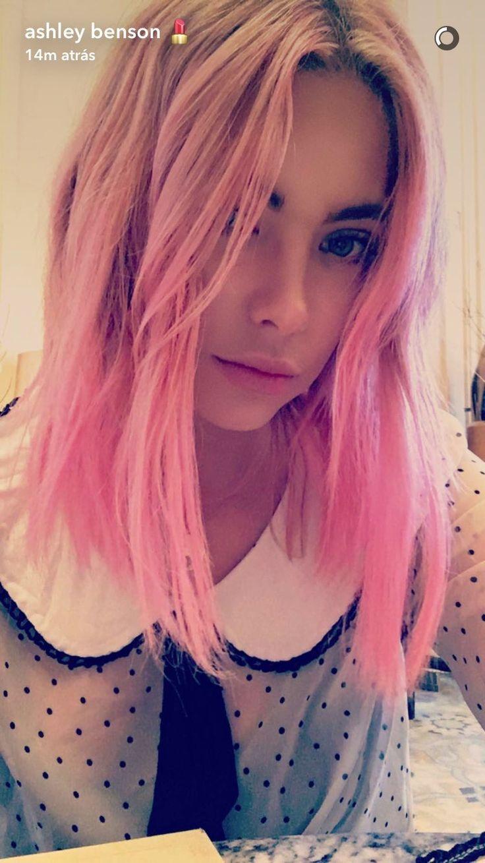 Ashley Benson pink hair