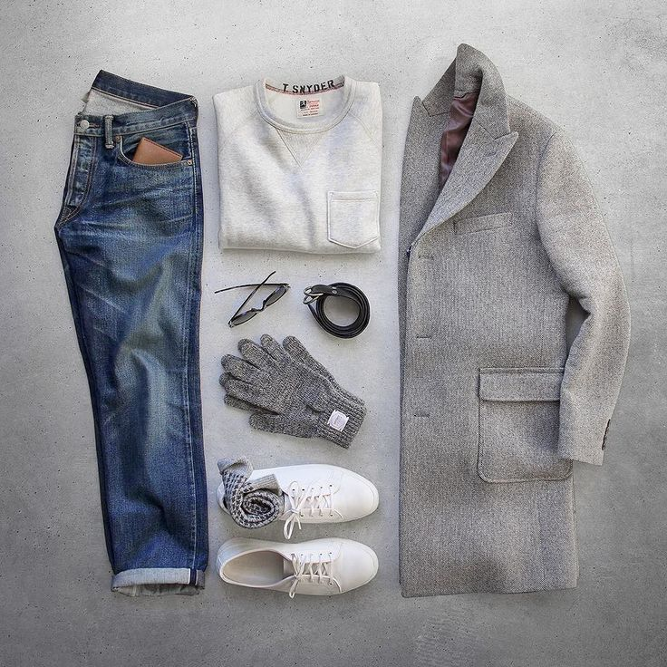 When fashion meets comfort.  Pocket Sweatshirt/Ring Belt: @toddsnyderny Topcoat: @bonobos Mainline Grey Checked Gloces: @upstatestock Shoes: @rancourtco Court Classic Socks: @jcrew Wallet: @bisonmade Denim: RRL @ralphlauren Glasses: @rayban by thepacman82