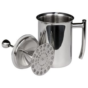 Milk Frother, Mirror Finish, 18 Ounces - $32.50 When you're done frothing milk, gaze at the mirrored finish to see how happy having a cappucino or hot chocolate makes you