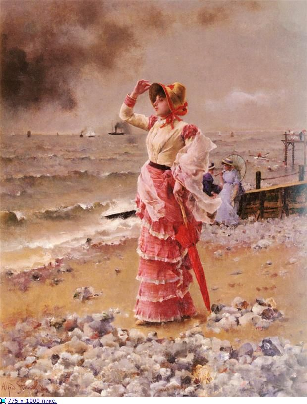 "Альфред Стивенс ""Элегантная дама"" http://www.pinterest.com/pin/357402920401610921/"