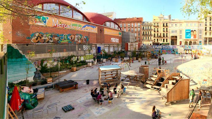 The outside of the Mercado de la Cebada | © Guillermo de la Madrid/Madrid Street Art Project
