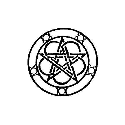 Pagan Celtic Pentacle Pentagram with triple moon by terbearco, $16.99