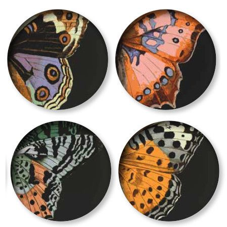 Mom would love these! Set of 4 Metamorphosis Dinner Plates design by Thomas Paul