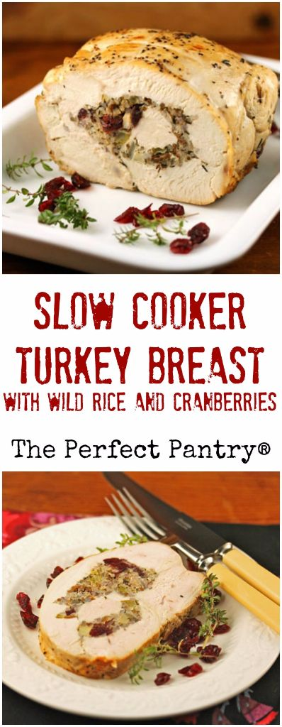 Slow Cooker Turkey Breast Stuffed With Wild Rice And