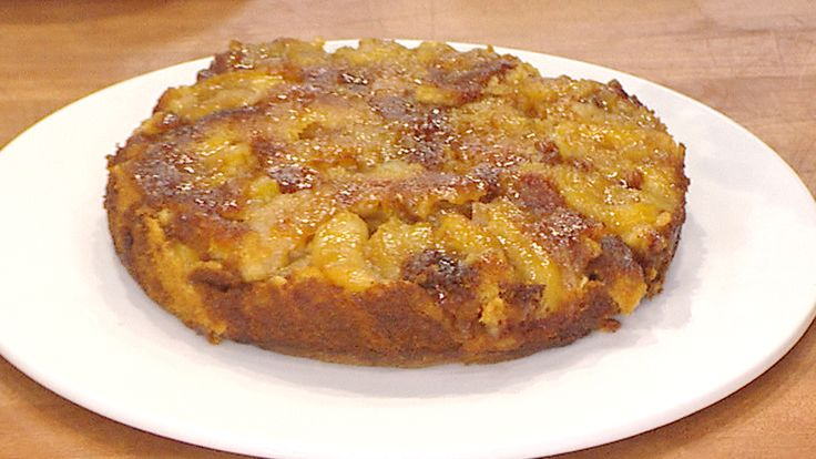 A layer of caramel makes this apple upside down cake irresistible