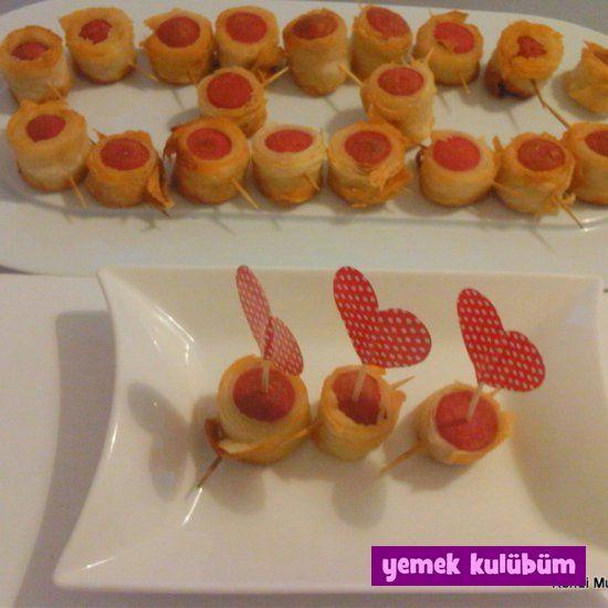 kolay pratik çıtır yufkalı sosis tarifi yapılışı nasıl yapılır, farklı değişik resimli çıtır yufkalı sosisli çocuklar için kahvaltı kahvaltılık tarifleri