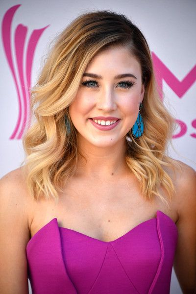 Recording artist Maddie Marlow of music group Maddie & Tae attend the 52nd Academy Of Country Music Awards at Toshiba Plaza on April 2, 2017 in Las Vegas, Nevada.