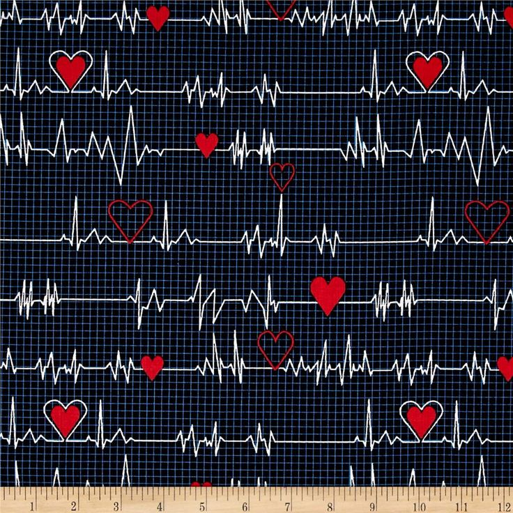 Calling All Nurses Heart Beat Black from @fabricdotcom  Designed by Whistler Studios for Windham Fabrics, this fabric is perfect for quilting, apparel and home decor accents. Colors include black, blue, red, and white.