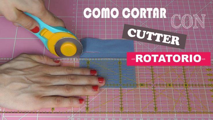 COMO CORTAR CON CUTTER ROTATORIO, REGLA Y BASE DE CORTE  (PATCHWORK)