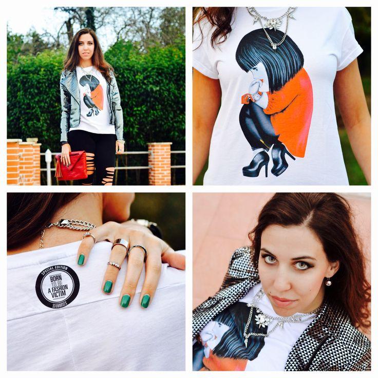 "Bellissimo #outfit dal blog ""Lo stile di Artemide"".. born to be a #fashionvictim! http://bit.ly/stilediartemide #siamoises #style #moda"