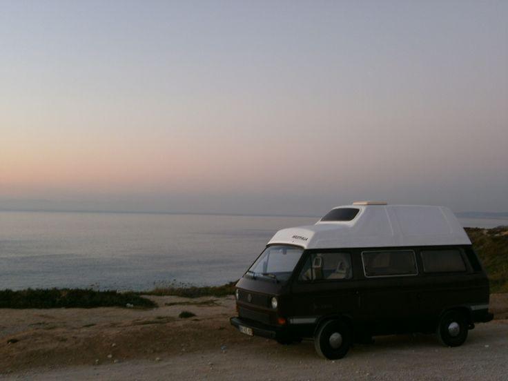 Praia das Bicas #VW #t3 #Joker #campervan