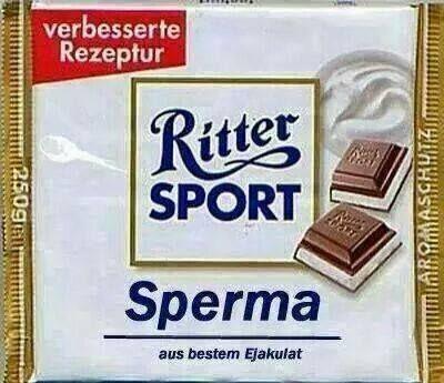 Ritter Sport - Sperma Fundstück