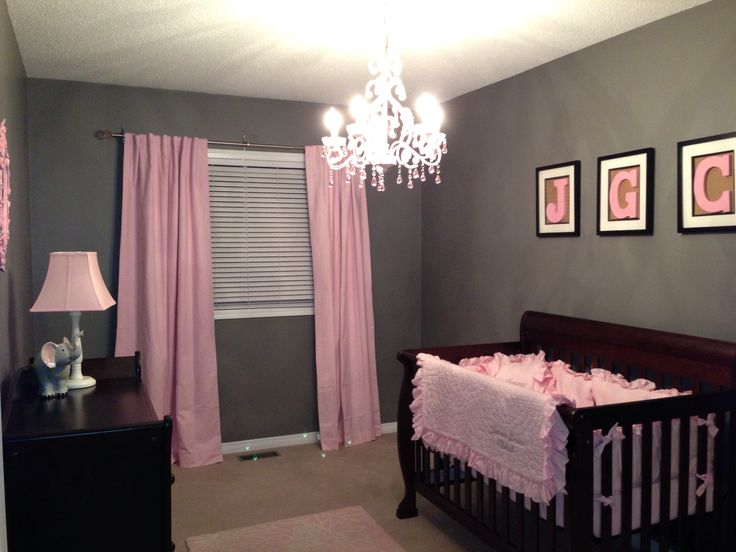 Baby girl nursery: love the idea of a chandelier