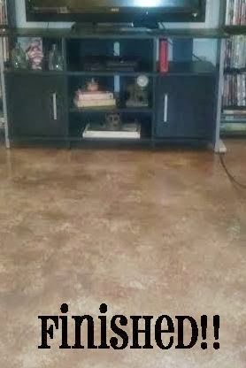 painted concrete floors! #paintedconcrete #housemakeover #remodel