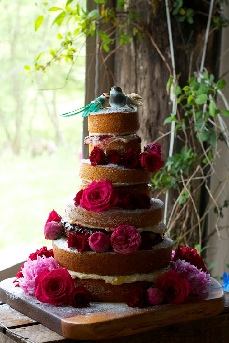 Cake and flowers - perfection