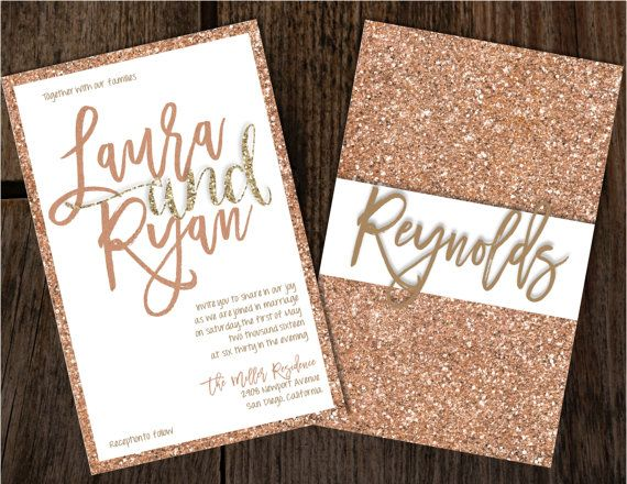 e77569e10c1af274ab5ae771679719c5 rose gold glitter gold glitter wedding best 25 gold wedding invitations ideas on pinterest,Plain White Invitations