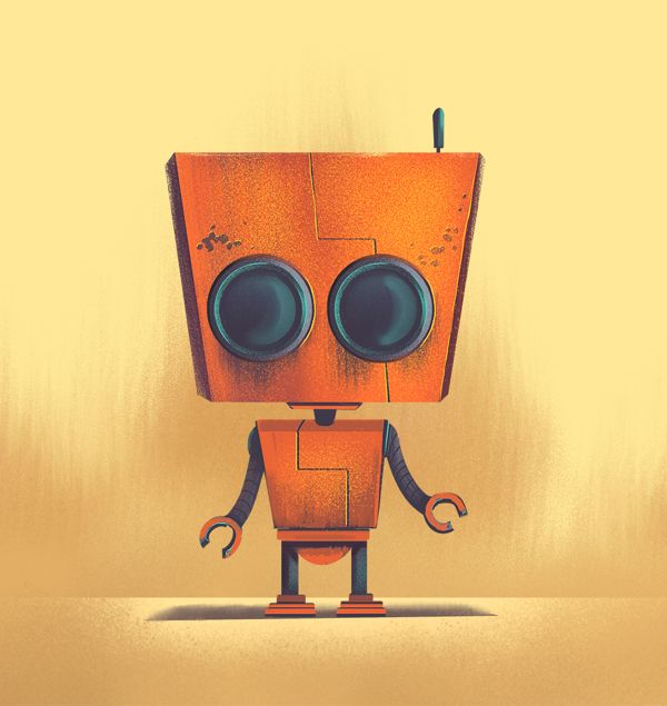 Totes Adorbots by Brian Miller, via Behance