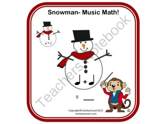 snowman music math worksheet add those notes w answer ke pinterest. Black Bedroom Furniture Sets. Home Design Ideas
