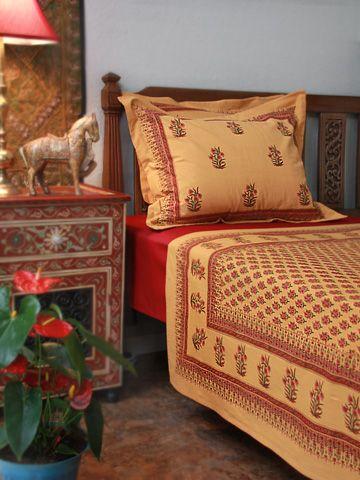 Indian Summer print queen bedspread from Saffron Marigold