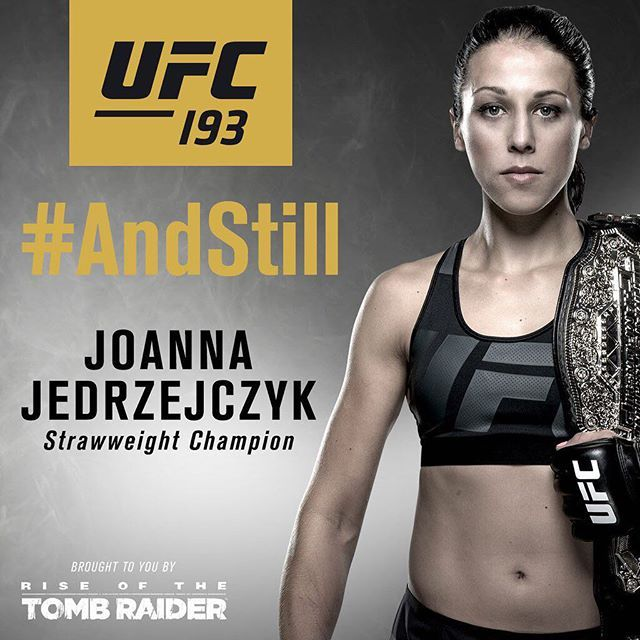 """AndStill"" #UFC strawweight Champion Joanna Jedrzejczyk : if you love #MMA, you'll love the #UFC & #MixedMartialArts inspired fashion at CageCult: http://cagecult.com/mma"