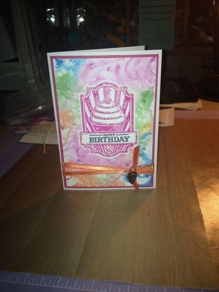 Happy Birthday Zoe. I used Tim Holtz distress inks on this one