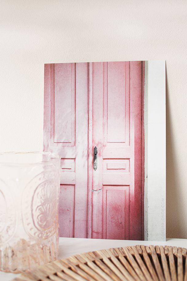 print-foto-roze-deur-griekenland-itnerieur