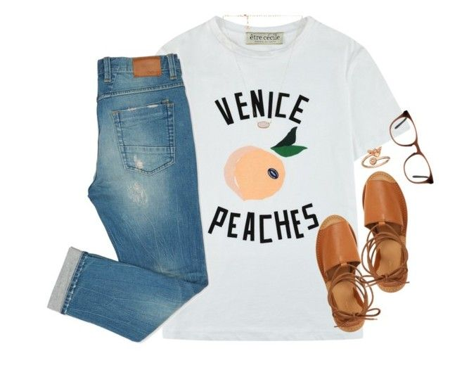 """""""peachy"""" by kaley-ii ❤ liked on Polyvore featuring Être Cécile, Topshop, Kendra Scott, Alex and Ani and Ace"""