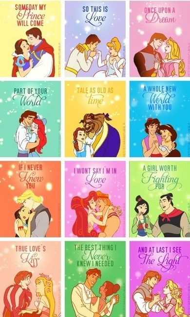 Disney Princess Couples - disney-princess PhotoTables Names, Little Girls, Princesses Quotes, Disney Songs, Disney Princesses, Disney Couples, True Love, Fairies Tales, Disney Movie