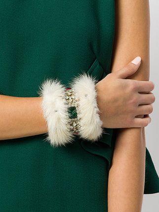 William Vintage embellished fur cuff