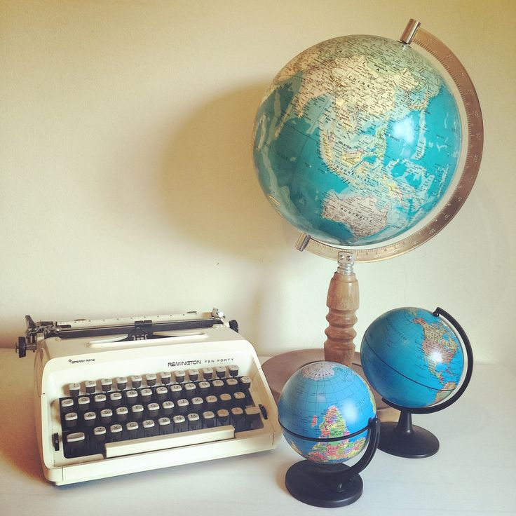 Typewriters and globes are just a few of our favourite things and which you can hire for your special day. www.thevintageway.com.au