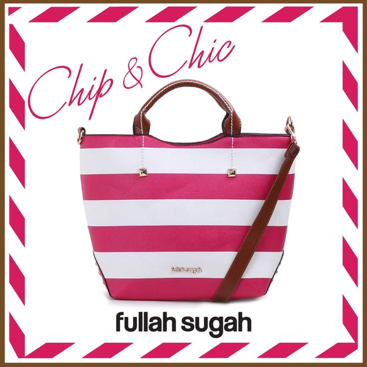 FULLAHSUGAH Striped stud tote bag | €34.90 | 14341087 | fullahsugah.gr