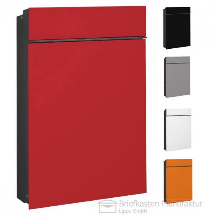 serafini briefkasten flat in grau rot blau schwarz oder weiss