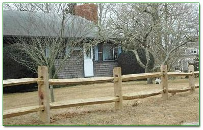 Split rail fence :)