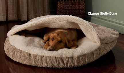 Dog Beds: Drs. Foster and Smith Sherpa Sleeper Dog Bed---BETSY would probably love this bed.