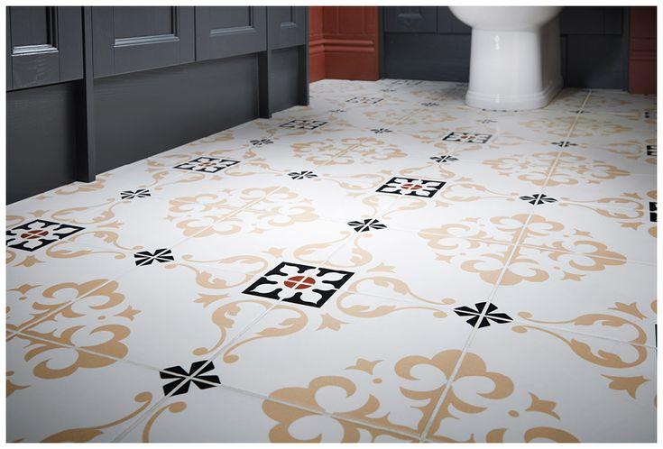 Vintage fleur floor #tiles evoke a feeling of Victorian elegance