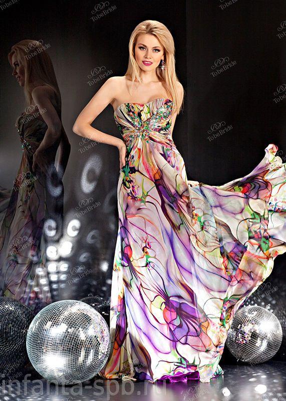 Фиолетовые вечерние платья.
