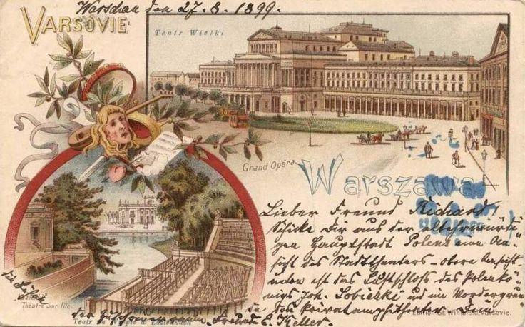 Teatr Wielki - Opera Narodowa, Warszawa - 1898 rok, stare zdjęcia